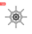 snowflake icon flat in black on white background vector image vector image