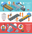 steel industry isometric banners vector image vector image