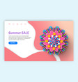 summer and spring sale and discounts websites vector image vector image