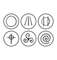 symbols of Druidism vector image vector image