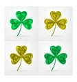 three-leaf shamrock clover icon design vector image
