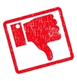 Thumb Down Icon Rubber Stamp vector image vector image