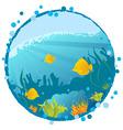 underwater background vector image vector image