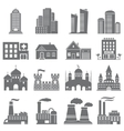 Various building icons vector image vector image