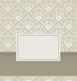 Vintage Damask Background Design vector image vector image