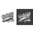 vintage space logo concept vector image vector image