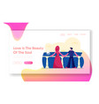 woman and man relaxing at sea website landing page vector image vector image