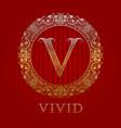 golden logo template for vivid boutique monogram vector image