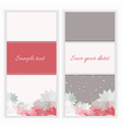 greeting cards with flower vector image