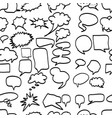 speech bubbles seamless pattern design vector image