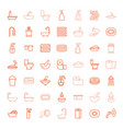 49 bath icons vector image vector image