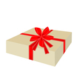 A Lovely Gift Box with Red Ribbon vector image vector image