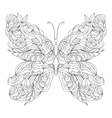 Abstract butterfly on white background vector image vector image