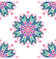 abstract floral pattern with hand drawn mandalas vector image vector image