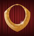 antique celtic golden gorget necklace image vector image