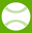 baseball icon green vector image vector image