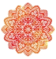 Beautiful watercolor floral Indian ornament for vector image vector image