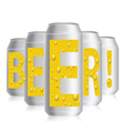 beer cans vector image