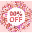 Big winter sale poster with 90 PERCENT OFF text vector image vector image