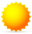 bright sun isolated on white vector image