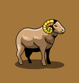 Brown Goat vector image vector image
