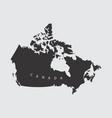 Canada silhouette map
