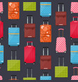 cartoon travel suitcase seamless pattern vector image vector image