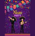 cinco de mayo fiesta party cartoon poster