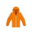 climbing jacket icon flat style vector image vector image