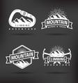 Climbing Mountain Label vector image