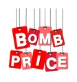 colorful hanging cardboard Tags - bomb vector image vector image