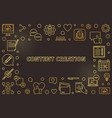 content creation golden thin line vector image
