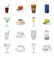 drink and bar icon vector image
