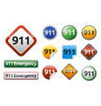 Emergency call 911 vector image vector image