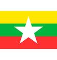 Flag of Myanmar vector image vector image
