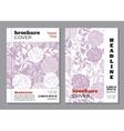 Floral brochure cover design