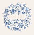 flower ball blue vector image vector image