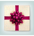 Gift box with a bow EPS 10 vector image vector image