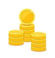 golden coins metal money stacks realistic vector image