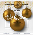 golden shiny christmas balls on light background vector image vector image