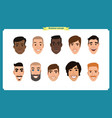 Group of people business men avatar