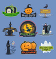 halloween trick or treat holiday icons vector image vector image
