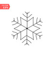 hand drawn snowflakes delicate snow icon vector image