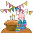 happy birthday cute animal vector image