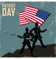 happy patriots day vector image vector image
