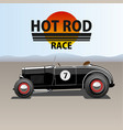 hot rod car vector image