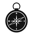 hunting compass icon simple style vector image vector image