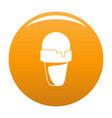 ice cream summer icon orange vector image vector image