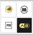 initial letter ab logo template design vector image vector image