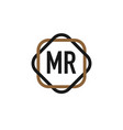 initial letter mr elegance logo design template vector image vector image